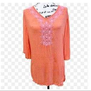 Lilly Pulitzer Embroidered Rayon Tunic Sz S